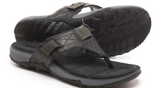 Merrell Terrant Thong Sandals Black Leather Mens 9 J91531 Ship
