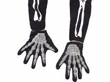 Childrens Skeleton Gloves Boys Girls 3D Bones Hands Kids Halloween Costume Child