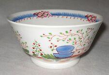 Early 19th Century English Brushed Enamel Decorated Porcelain Waste Slop Bowl