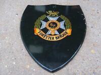 Forester / Midland Brigade Large Regimental Wooden Plaque