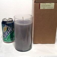 Renew 18 oz Glass Gray Candle Jar Longaberger New Tobacco Clove Cedar Musk Tonka