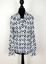 Bluse, Vintage, weiss-schwarz, S