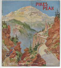 1920s Promotional Brochure for Pikes Peak & Colorado Springs CO w/ Great Cover