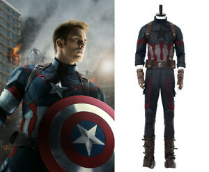 Avengers3: Infinity War Captain America Costume Cosplay Men Steven Rogers