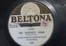 78 rpm HARRY GORDON & ARTHUR BLACK the dentist`s chair / fish , comedy