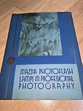 1920's Book GENERAL ELECTRIC MAZDA PHOTOFLASH LAMPS in Professional Photography
