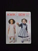 Kwik Sew K3962 Toddler Dress & Pinafore T1-T4 Sewing Pattern Peter Pan Collar