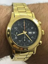 PRYNGEPS 1427 SENIOR CHRONOGRAPH AUTOMATIC GOLD PLATED MENS 40mm  SWISS MADE