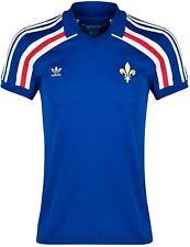 Men'S Adidas France Retro Royal Soccer Football Shirt Jersey Maillot Size Xs