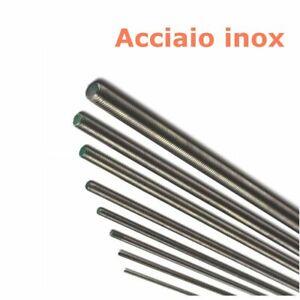 Barra filettata acciaio inox 1,00 mt asta inox tirafondo tirante Ø da 3 a 20 mm