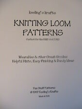 KNITTING LOOM PATTERNS~wearables & much more~instructions~Keeling's Krafts 1997