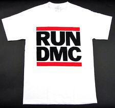 ea4d1a36 RUN DMC JAM MASTER JAY T-shirt Retro Logo Hip Hop Rap Rock White Men