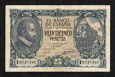 F.C. 25 PESETAS 1940 , SERIE E , MBC , MARGENES SUCIOS .