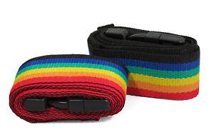 Rainbow | Adjustable Luggage Tie Down Straps | 50mm x 1.8m | Pk2