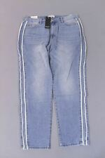 Nasty Gal Redial Women's Vegan Leather Trim Mom Jeans SV3 Blue Size US:10 NWT