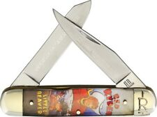 Rough Rider Moose Red Folding Pocket Knife Stainless Steel Blade Acrylic Handle