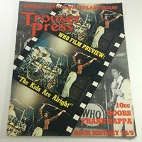 VTG Trouser Press Magazine: April 1979 - 10 CC Doors, Frank Zappa & Rock History