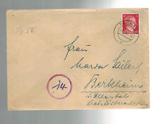 1944 Germany Dachau Concentration Camp Soldier Cover with Letter KZ