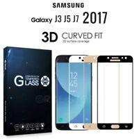 PELLICOLA VETRO TEMPERATO 3D CURVO HD FIT per SAMSUNG GALAXY J3 J5 J7 2017