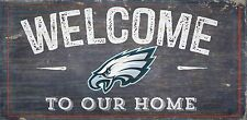 "Philadelphia Eagles Welcome to our Home Wood Sign  NEW 12"" x 6""  Decoration Gift"