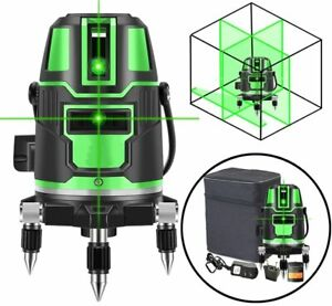 5 Line Grün Rotationslaser Automatisch Laser Level Kreuzlaser Baulaser 360 Grad