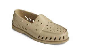 Sperry Men's A/O Float Water Shoes Slip-On Waterproof Khaki STS23437 - Size 8 -