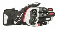 GUANTI MOTO ALPINESTARS SP-2 V2 GLOVES BLACK WHITE RED PROTEZIONI CERTIFICATE
