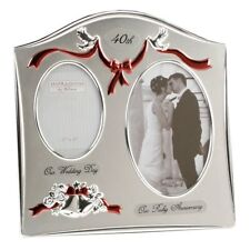 40th RUBY Wedding Anniversary Photo Frame *Gift* NEW