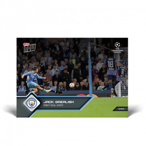 2021 Topps Now UCL UEFA #23 Jack Grealish Manchester City PRESALE