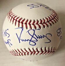 DARRYL STRAWBERRY SIGNED CAREER STATS BASEBALL New York METS MLB BAS COA AUTO D