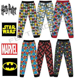 Mens Pyjamas Pants Bottoms MARVEL DISNEY CHARACTER LOUNGE PANTS COTTON gift