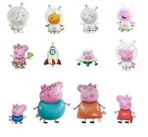 Kids Peppa George pig Birthday Party Foil Air Helium Fill Balloons
