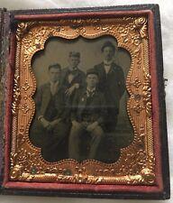Civil War Era Tintype of Potentially 4 Railroad Men