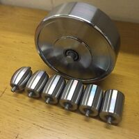 Top And Bottom English Wheel Rollers, Anvils,High Quality, Uk Made + Rubber Band