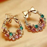 Fashion Women Lady Elegant Crystal Rhinestone Ear Stud Earrings Jewelry