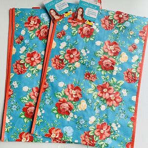 The Pioneer Woman Reusable Shopping Bag Vintage Floral Tote (2 Pack)