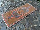 ETHNIC PATTERNED TURKISH CARPET IS 100% WOOL AND HAND WOVEN   1,3 x 3,0 ft