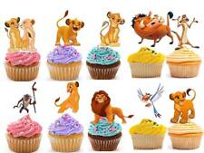 25 X THE LION KING Edible Cup Fairy Cake Toppers Party Premium Wafer STAND UP