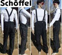 mint! SCHOFFEL gore-tex waterproof ski bib pant full side zips salopettes mens L