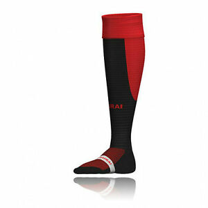 10 pairs of Samurai Tri Nations Rugby or Football socks Black Red, size 2-6