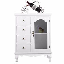 Wandschrank Kommode mit 4 Schublade Beistellschrank Standschrank Sideboard weiß