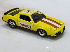 VINTAGE CORGI 1983 Pontiac Firebird Padres Baseball Collector Car Yellow 1:64