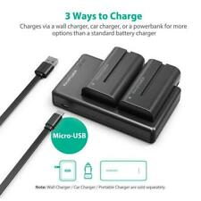 NP-F550 RAVPower Battery Charger for Sony NP F970, F750, F770, F960, F550, F530,