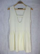 KIRRILY JOHNSTON Size 10 Ivory coloured Linen cotton blend skirt