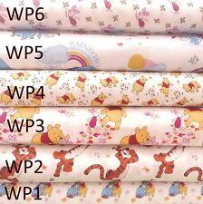 Disney Winnie the Pooh 100% Cotton Fabrics-8 designs Quilting Dressmaking