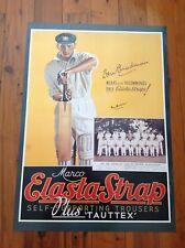 Don Bradman Cricket Signed Poster
