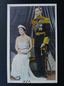 British Royalty T.M. KING GEORGE Vl & QUEEN ELIZABETH Canadian c1937 RP Postcard