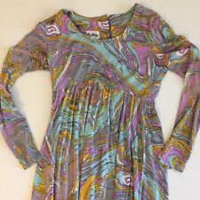 Groovy Vintage Helen Whiting Maxi Dress Purple Sexy 0 2 4 Sundress Small long