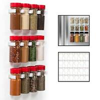 Magnetic Spice Rack Gripper Clips- Set of 24 Universal Spice Jar Clips - Easily