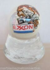 EXXON GASOLINE LOGO ON WHITE COLLECTOR MARBLE